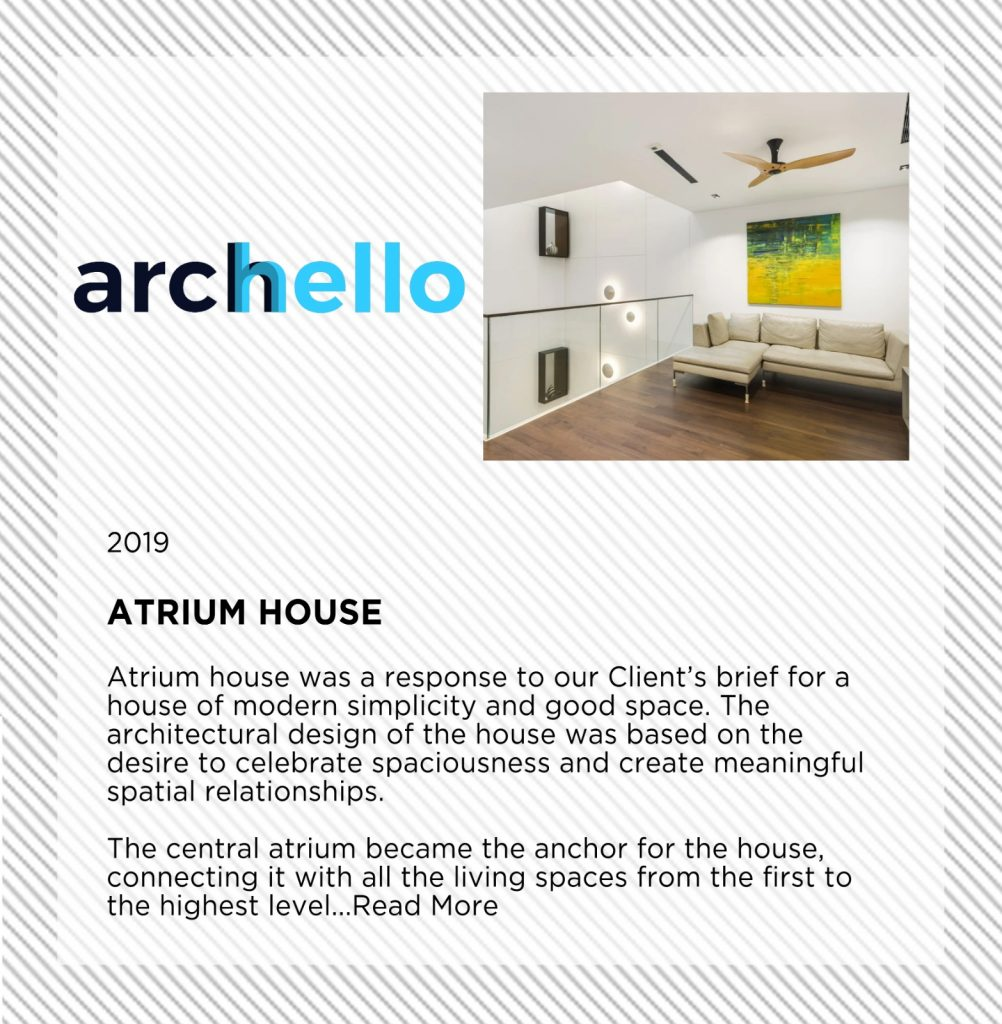 Atrium House featured on Archello